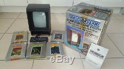 Vectrex Arcade Video Game System Controller + 6 Games, All Original Box + Manual