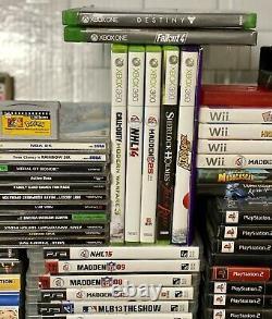 Video Game Lot 95 Bundle Wii PSP PS2 Sega Genesis N64 NES DS XBox One 360 Master