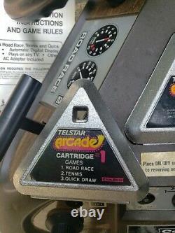 Vintage 1977 Coleco Telstar Arcade Road Rage Quick Draw Games Gun Video Box