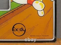 Vintage 1977 Robot Bowl Arcade Video Game Plexi Glass Bezel Exidy Screenprinted
