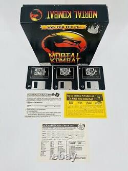 Vintage 1993 Mortal Kombat Original Big Box PC Video Game IBM Tandy CIB Complete
