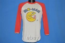 Vintage 80s PAC MAN ARCADE NAMCO RAGLAN VIDEO GAME BLINKY DISTRESSED t-shirt M