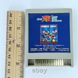 Vintage Atari XE Nintendo Mario Bros Video Game Cartridge, Manual, Box Tested