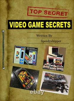 Vintage Handheld Electronic Tabletop Arcade video game console BOOK SECRETS