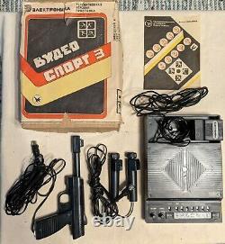 Vintage game Elektronika Video sport 3 Soviet console Videosport USSR 1991