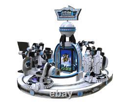 Virtual Reality Kids Rotating Shooting VR Simulator 9D 360 Arcade Game SEE VIDEO