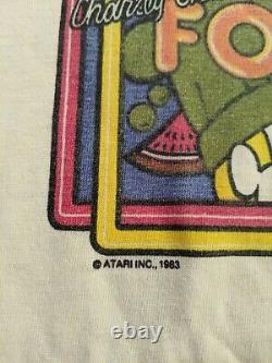 Vtg Rare Atari Food Fight Arcade Video game T shirt Original 1983 Snack Tee USA